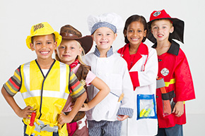 Photograph of Kids Dressed in Career Costumes